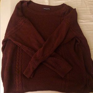 maroon knitted American Eagle sweater